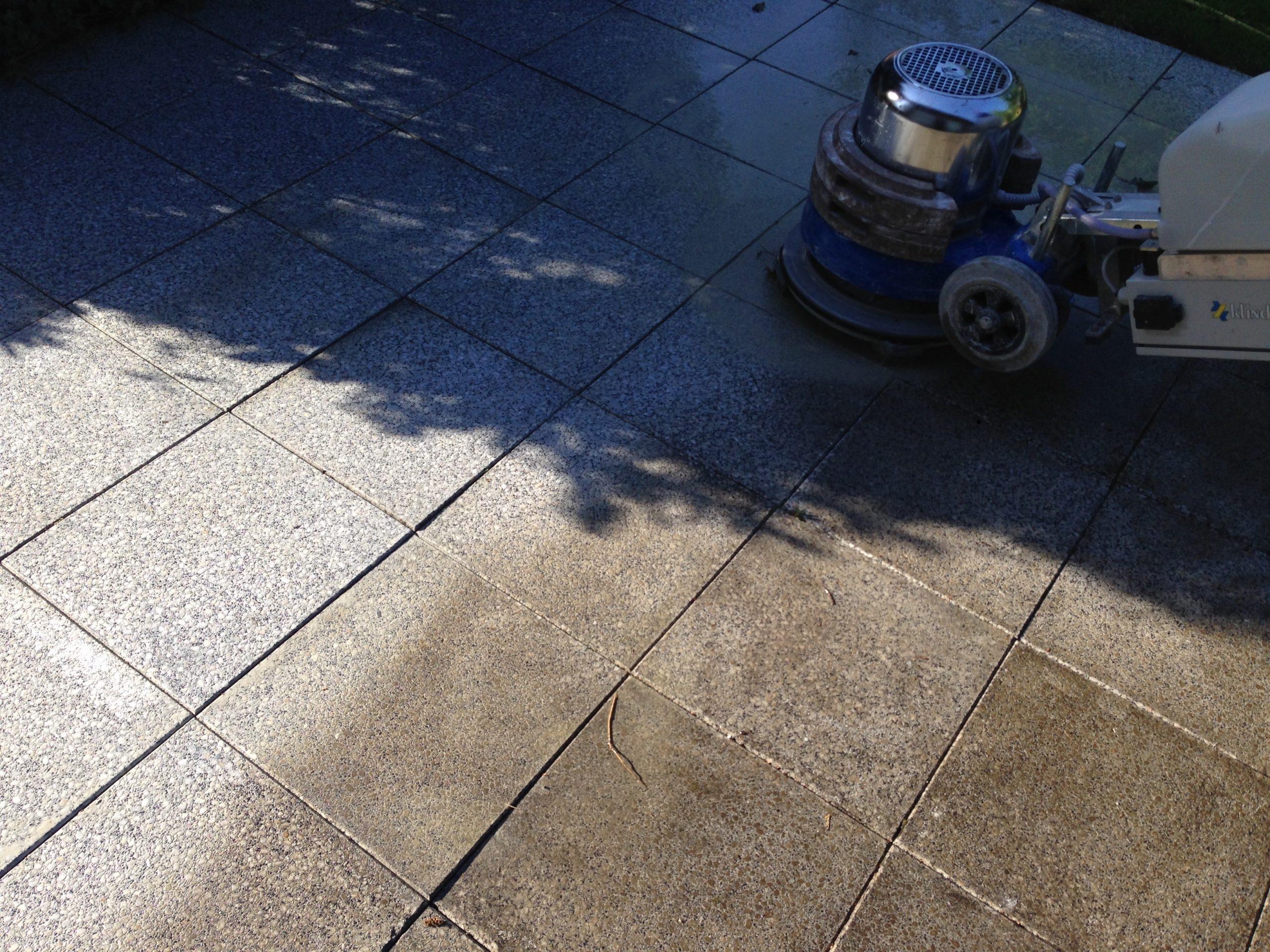 Granit reinigen und pflegen außen